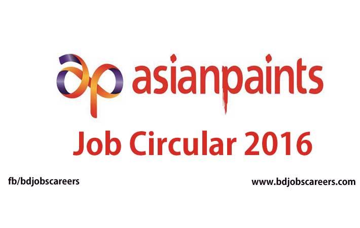 Bangladesh Asian Paints Job Circular 2016