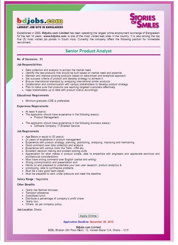 BD Jobs Circular