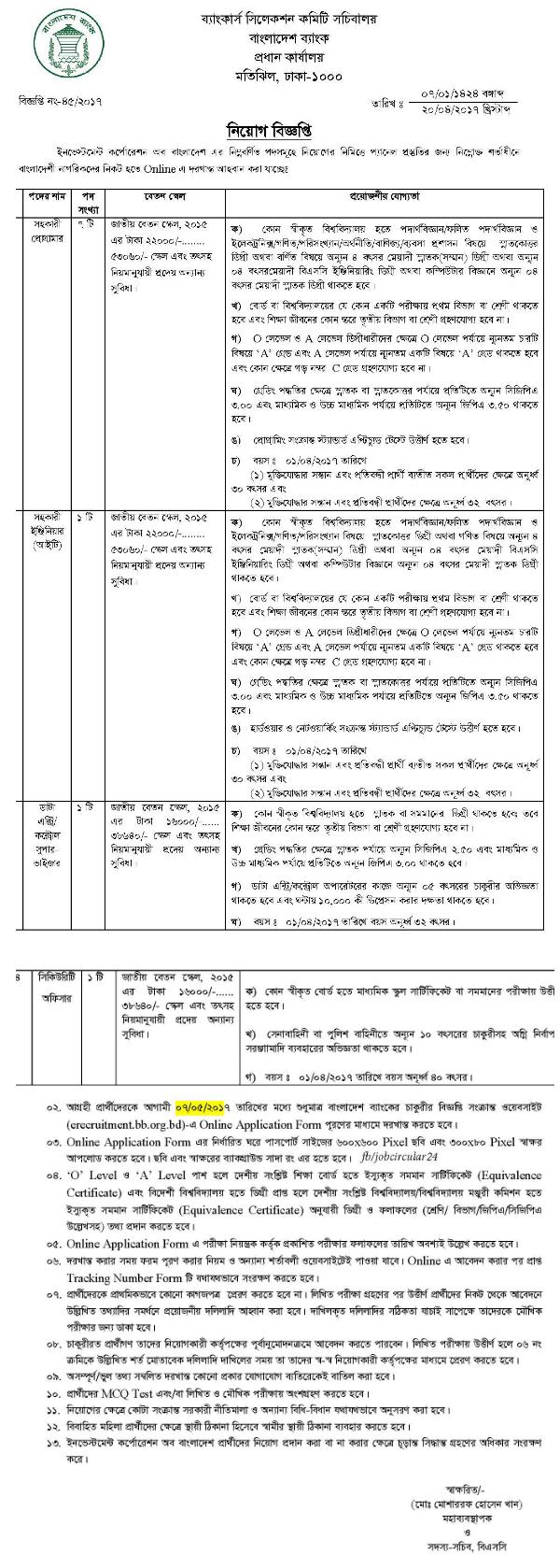 Bangladesh bank job application form - bangladesh bank job ...