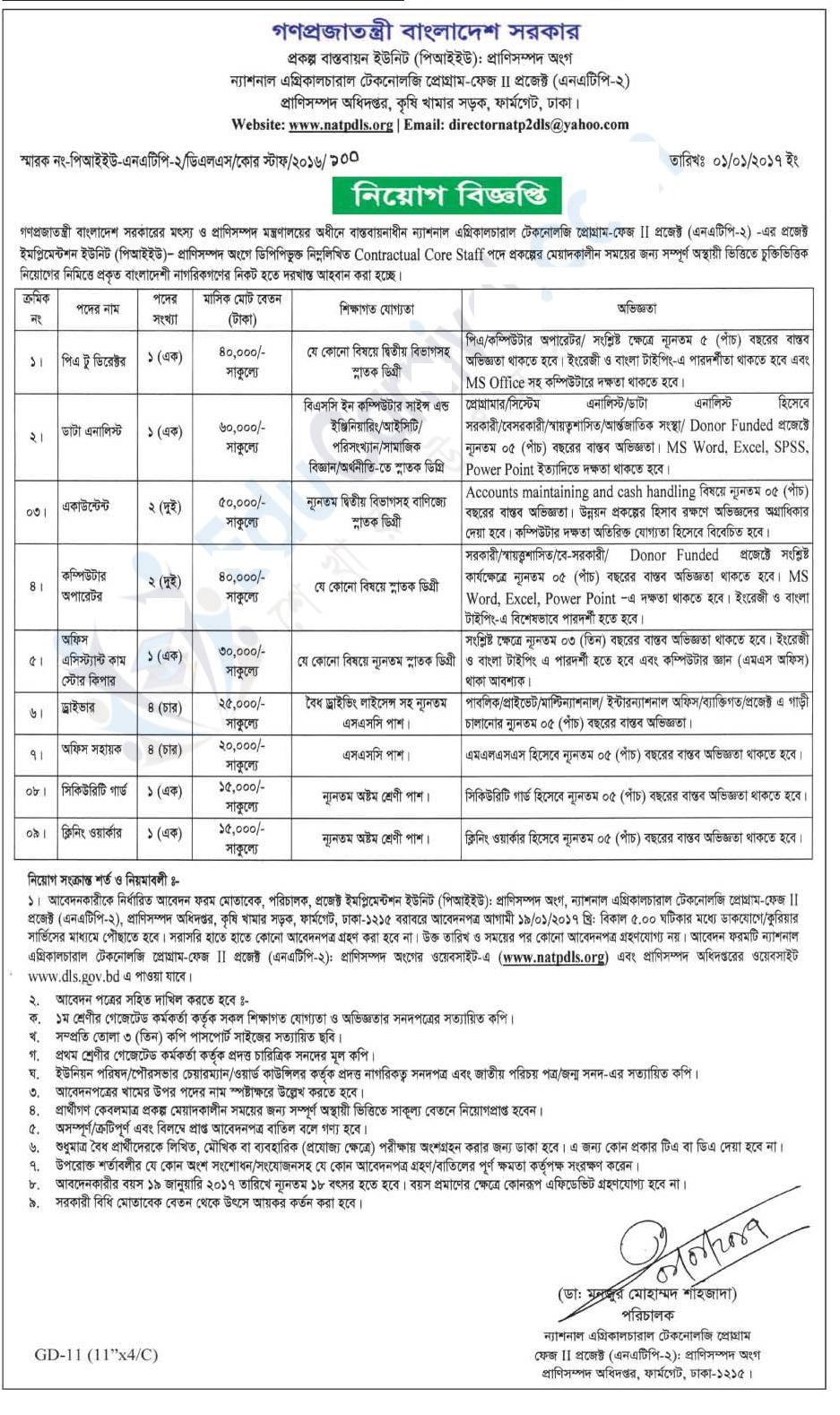 Bangladesh Livestock Services Department Job Circular 2017