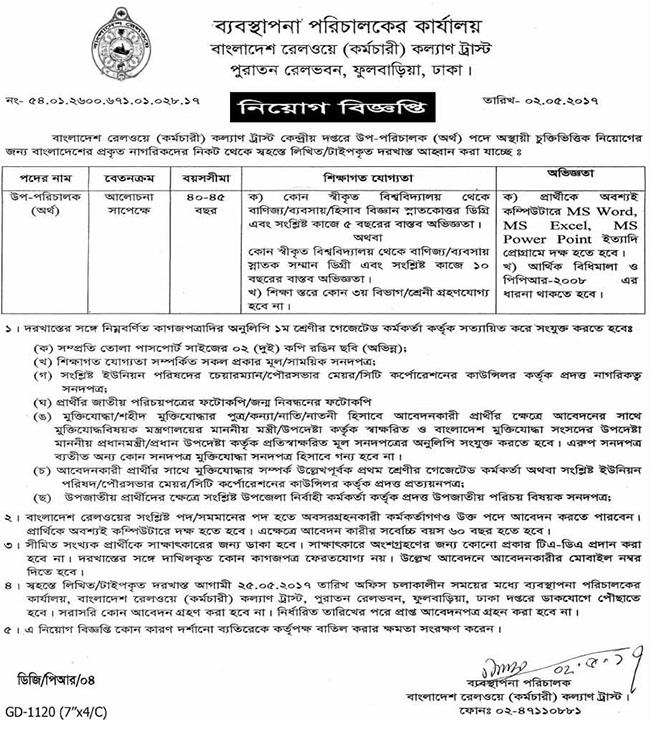 Bangladesh Railway Job Circular 2017
