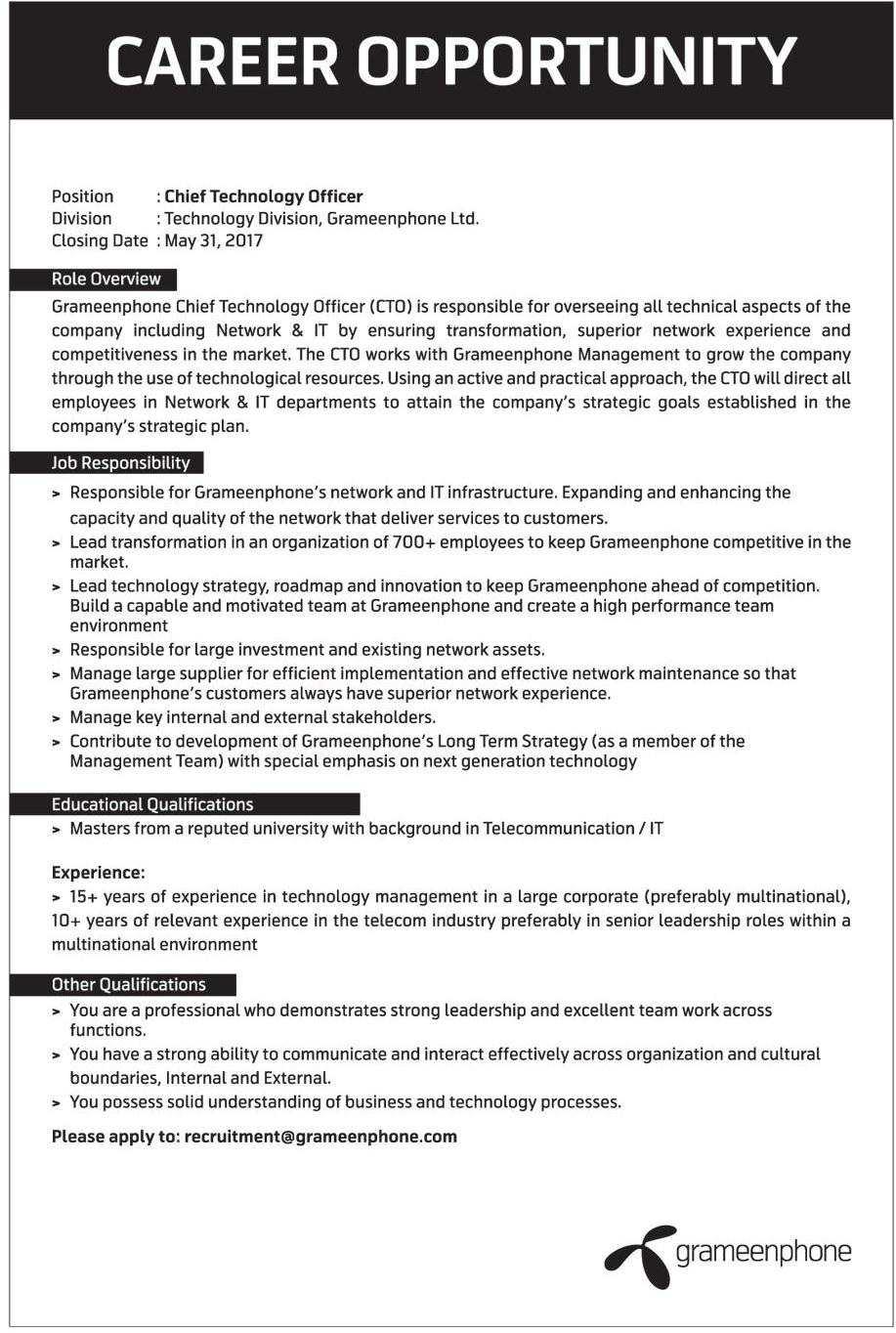 Grameenphone Job Circular 2017