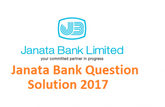 Janata Bank Question Solution 2017