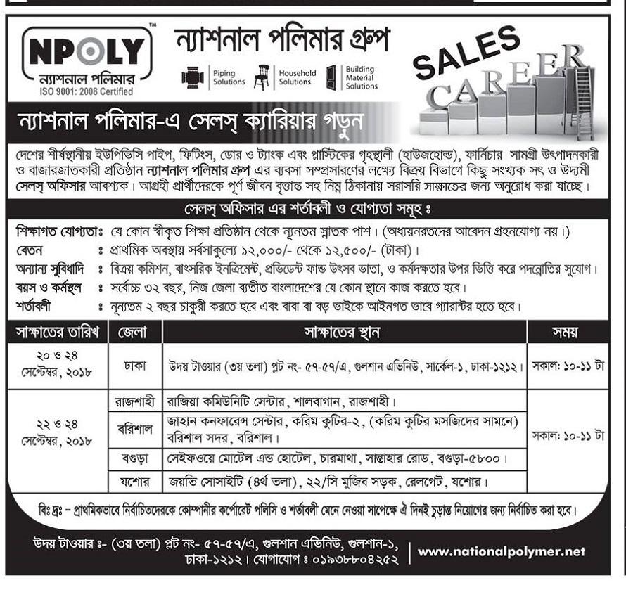 National Polymer Group Job Circular 2018