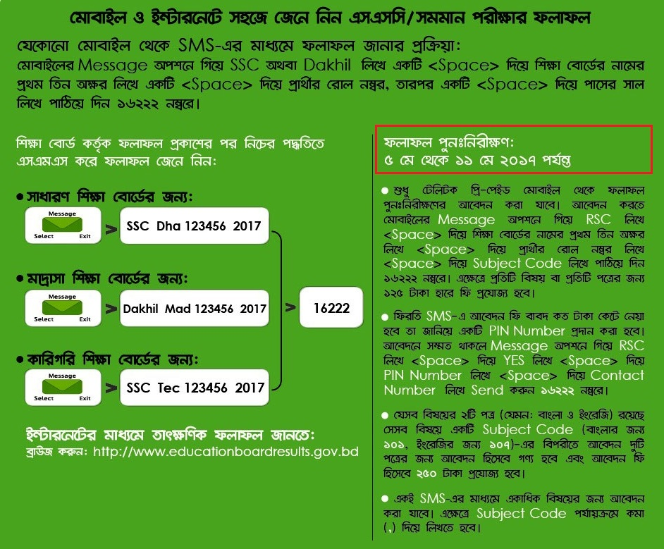 SSC Rescrutiny or SSC Khata Challange Process and Result 2017