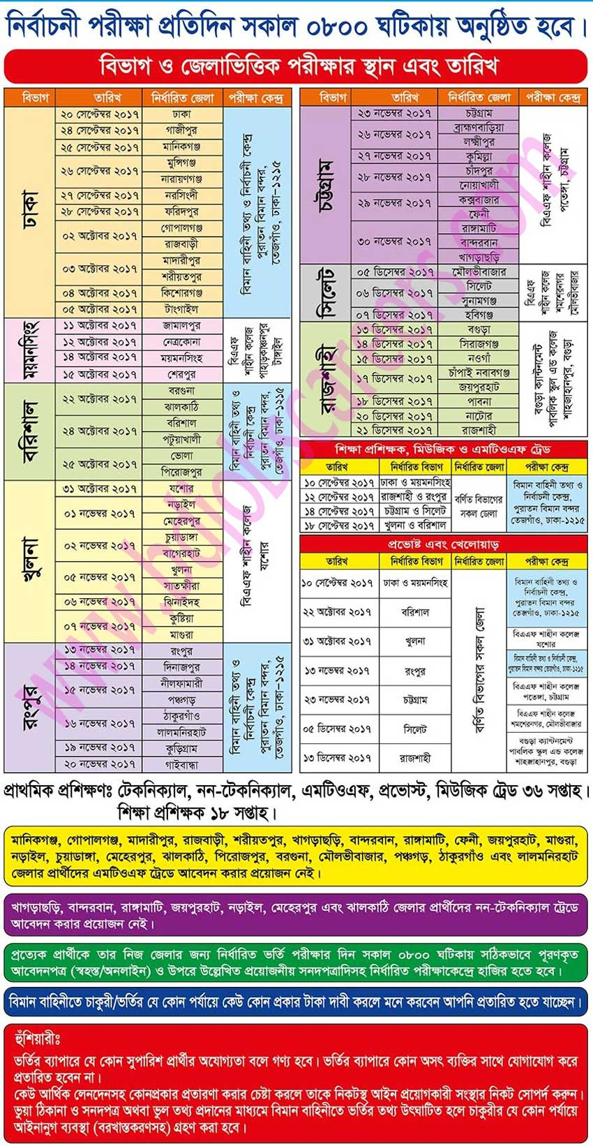 Bangladesh Air Force Job Circular 2017 Information