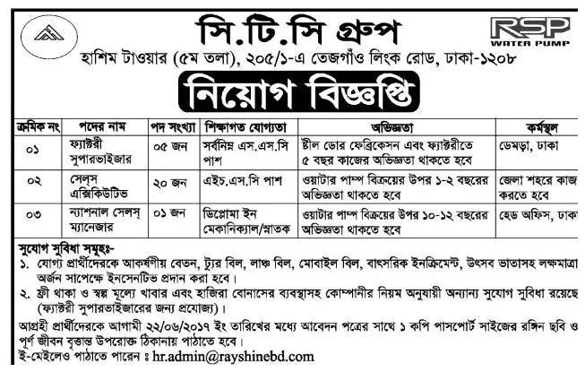 CTC Group Bangladesh Job Circular 2017