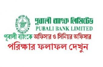 Pubali Bank Limited Written Exam Result 2017