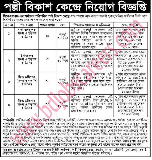 Rural Development Center Job Circular 2017