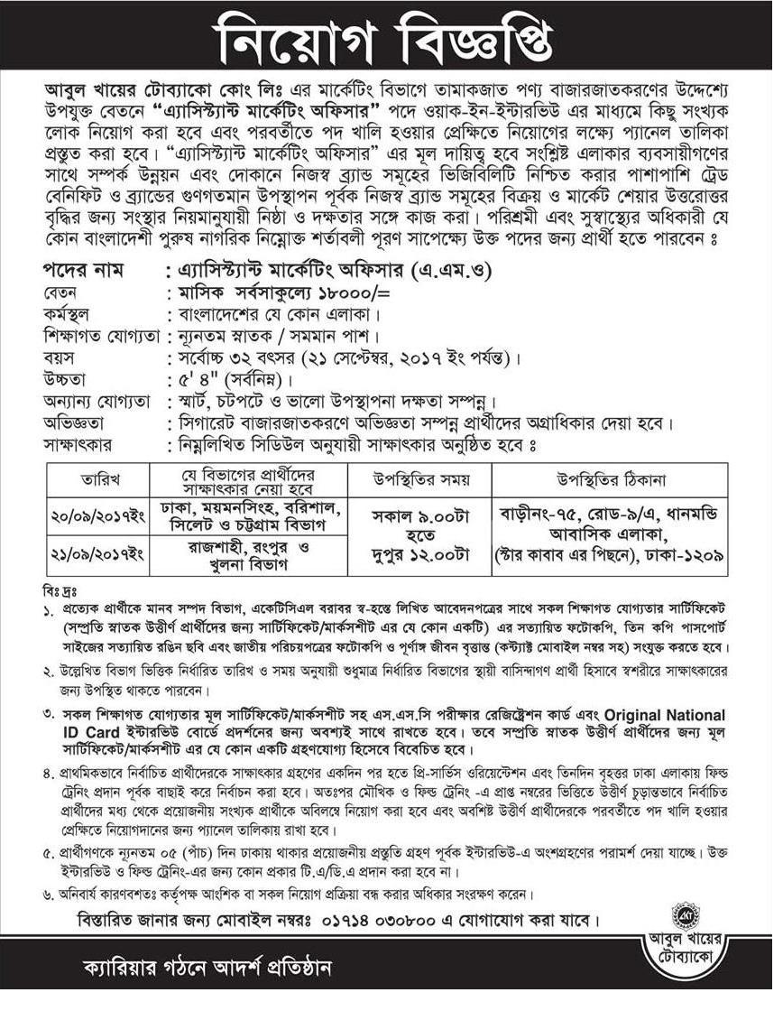 Abul Khair Group Job Circular 2017