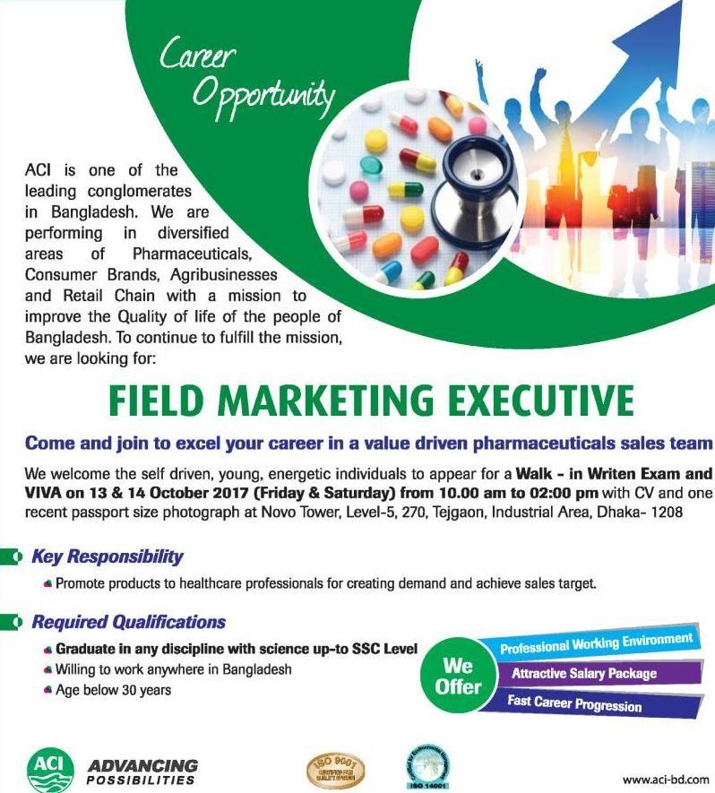ACI Limited Job Circular 2017