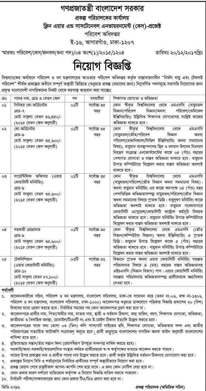 Bangladesh National Herbarium (BNH) job circular