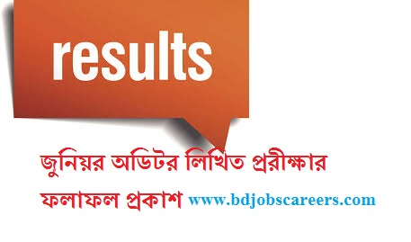 Junior Auditor Writtens Result 2017