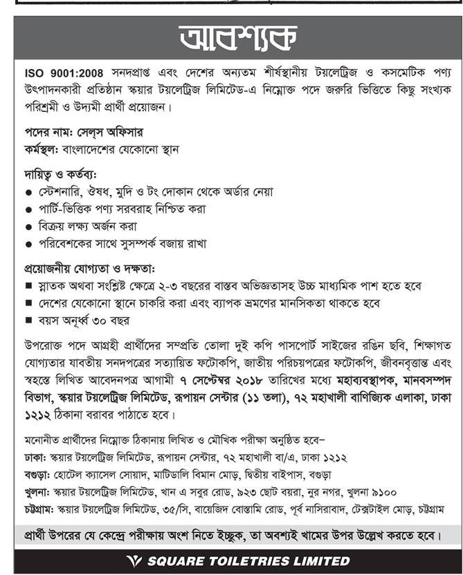 Square Group Job Circular 2018