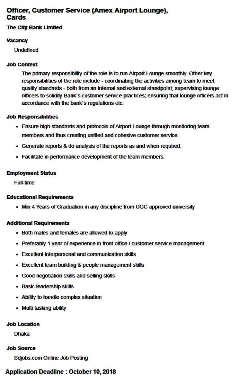 City Bank Limited Job Circular 2018 | BD Jobs Careers