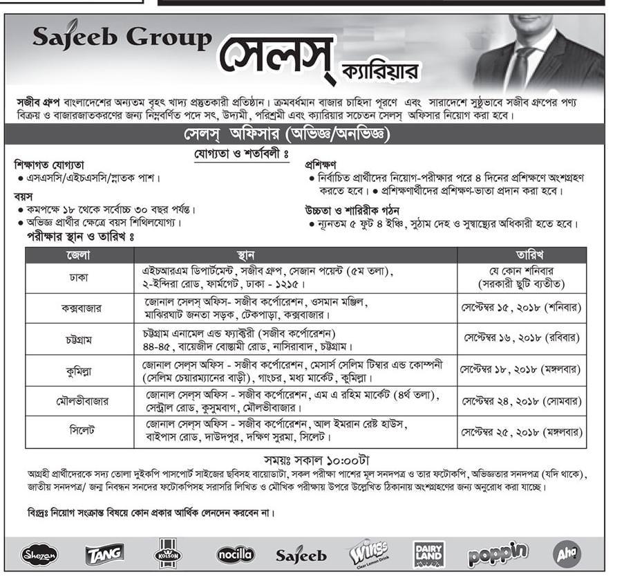 Sajeeb Group Job Circular 2018