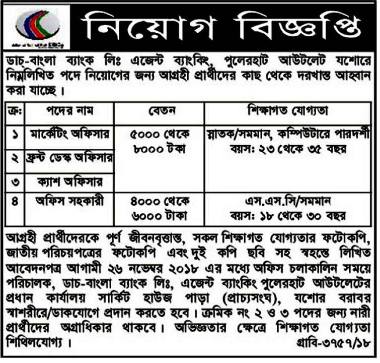 Rupali Bank Limited Job Circular 2018