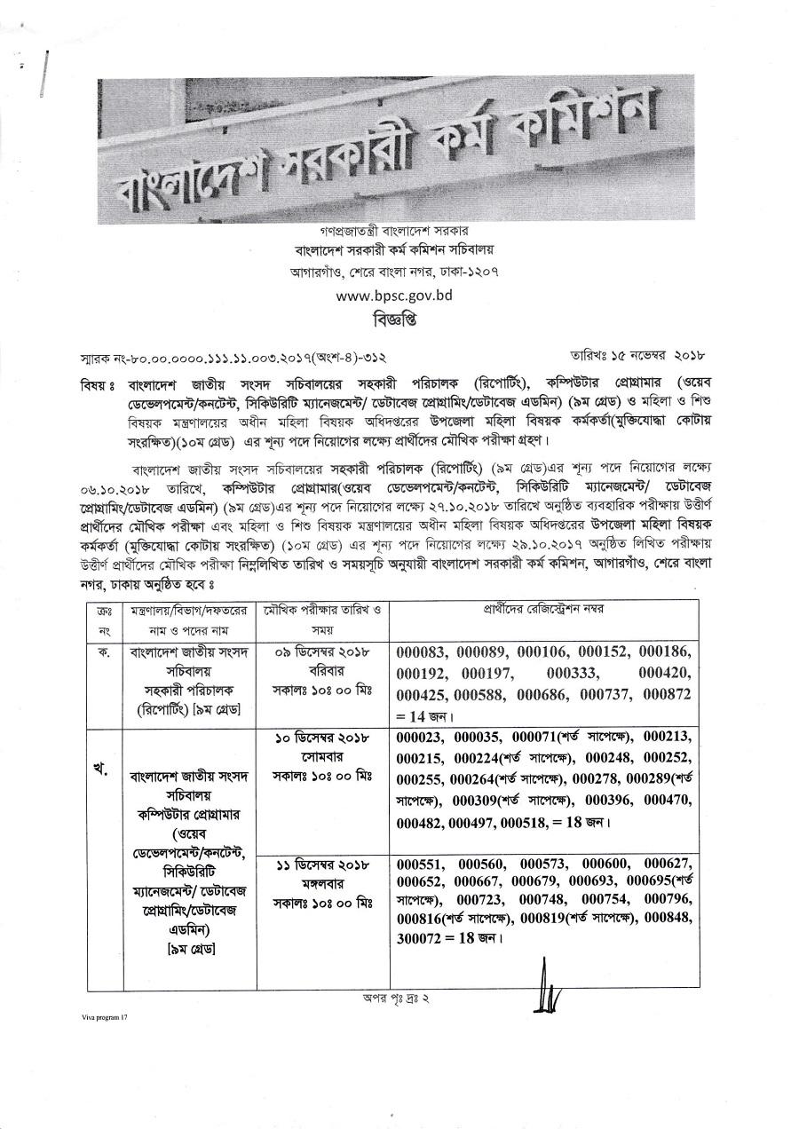 BPSC Teletalk Result Published