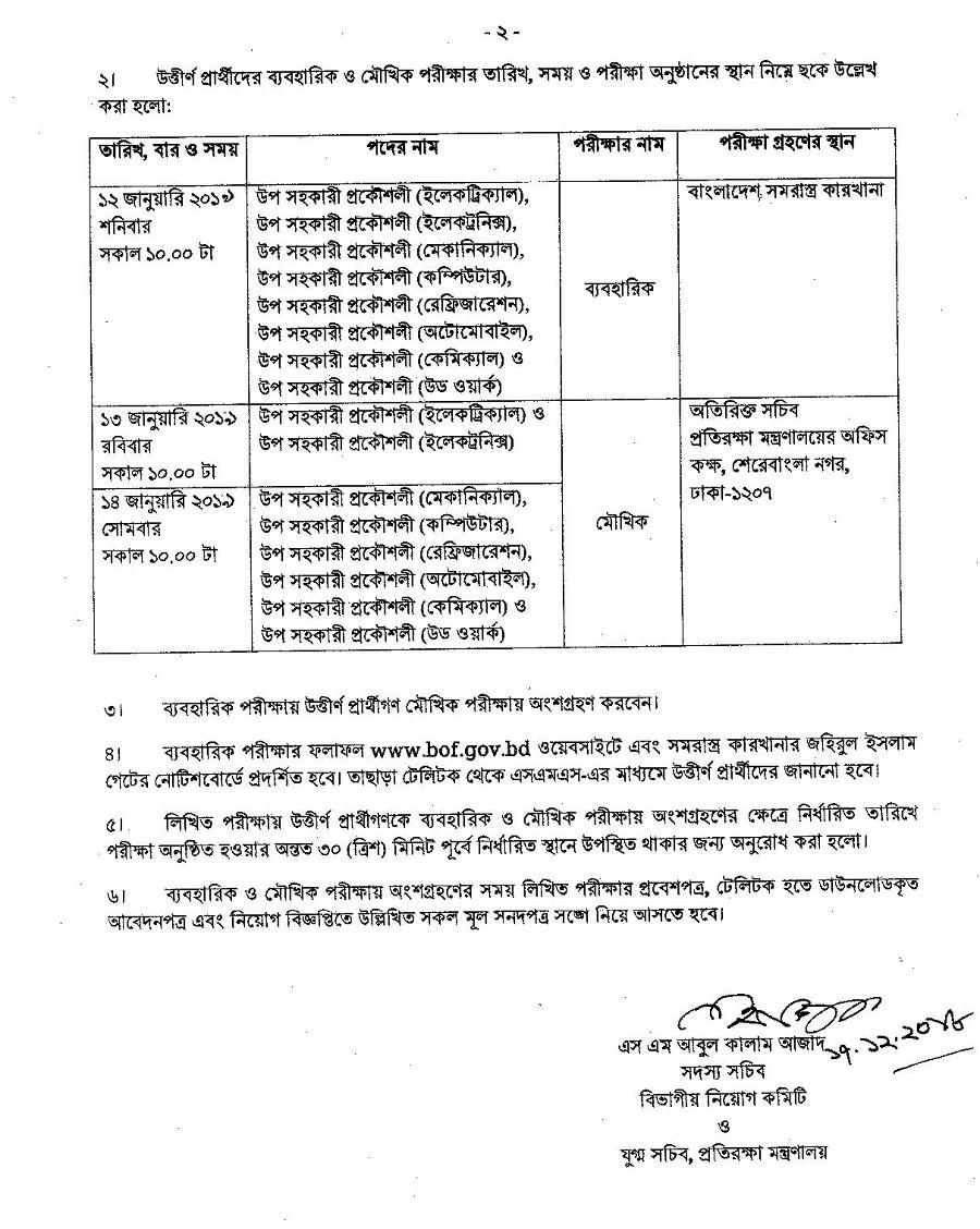 BOF Teletalk Application Form & Admit Card Download