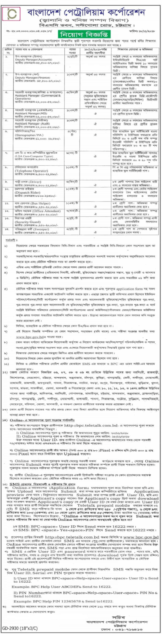 BPC Teletalk Application Form & Admit Card Download