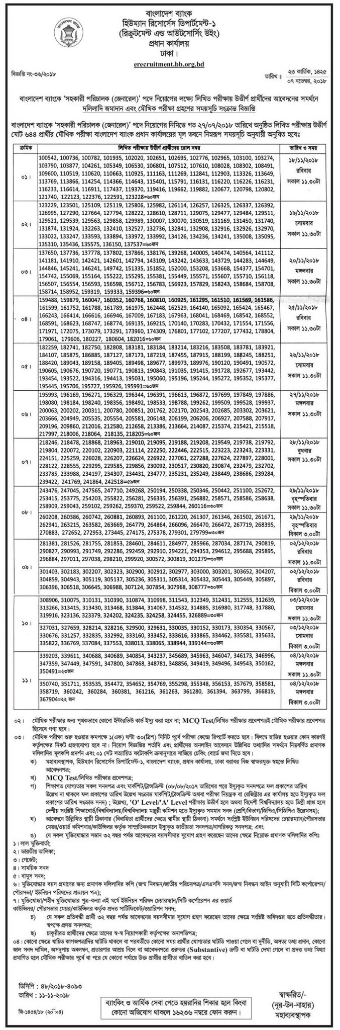 Combined 8 Bank Exam Result