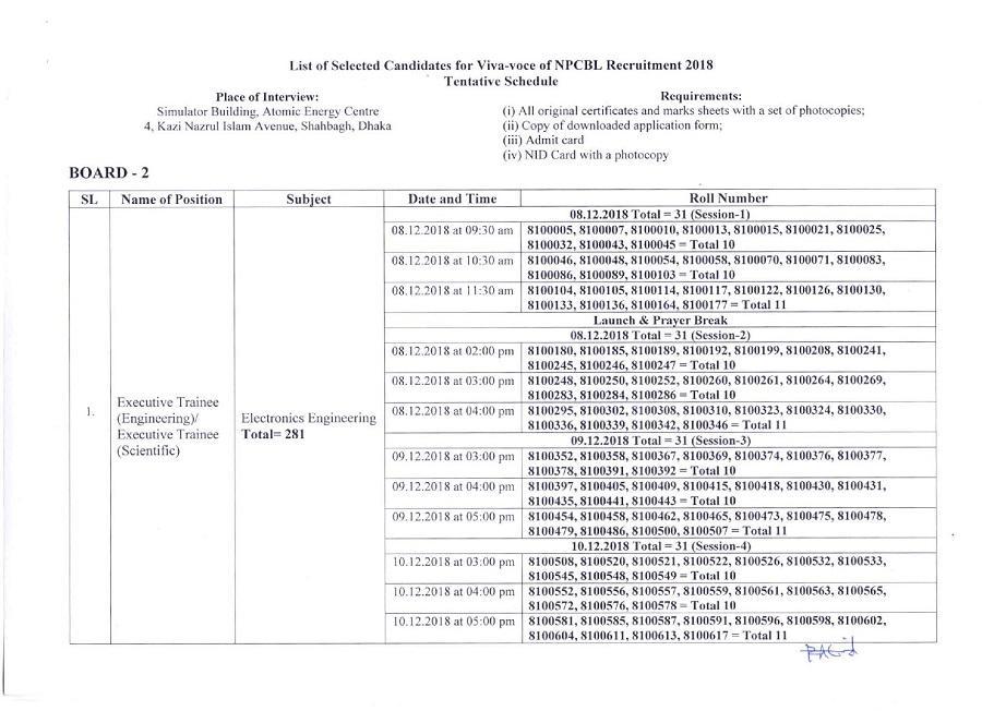 NPCBL Teletalk Application Form & Admit Card Download