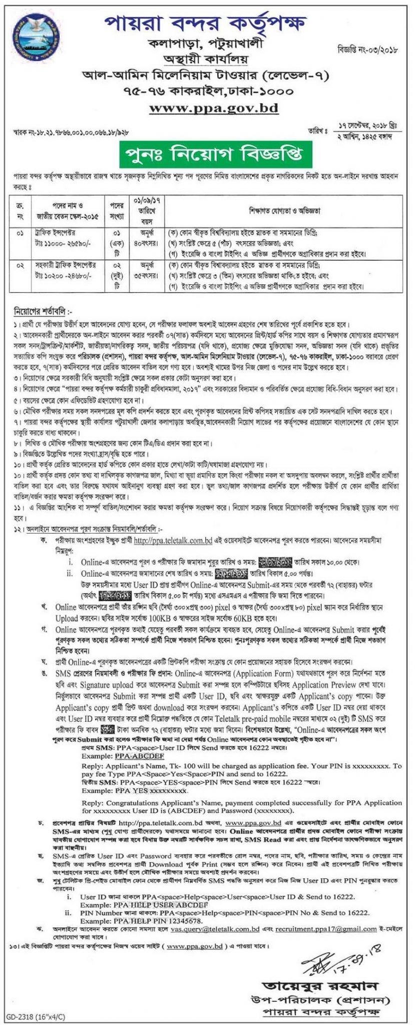 PPA teletalk Application Form & Admit Card Download