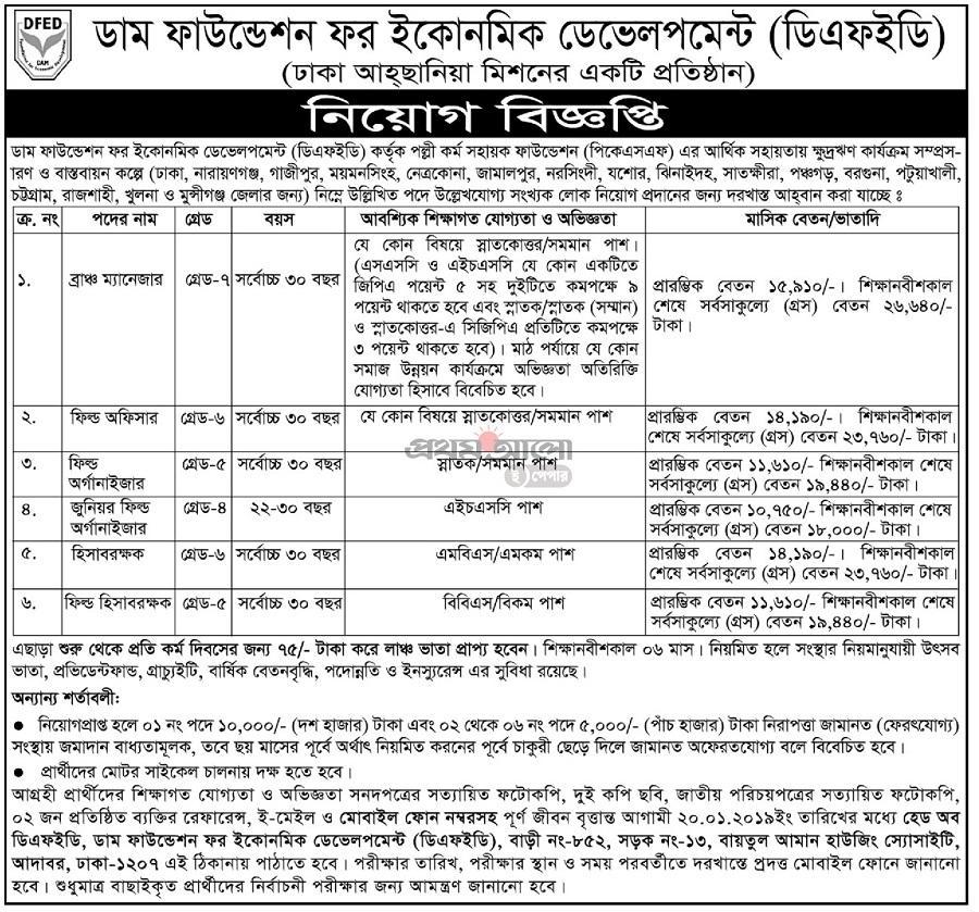 Palli Karma-Sahayak Foundation (PKSF) Job Circular