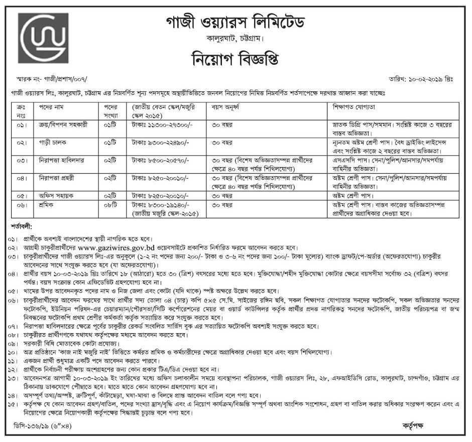 Bangladesh Steel & Engineering Corporation (BSEC) Job Circular 2019