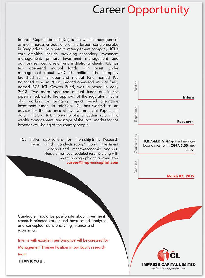 Impress Capital Limited (ICL) Job Circular 2019