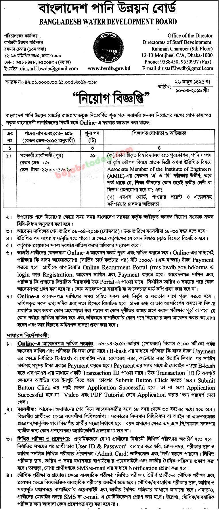 Bangladesh Water Development Board Job