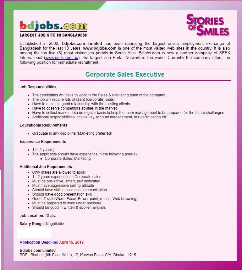Bdjobs.com Job Circular 2019