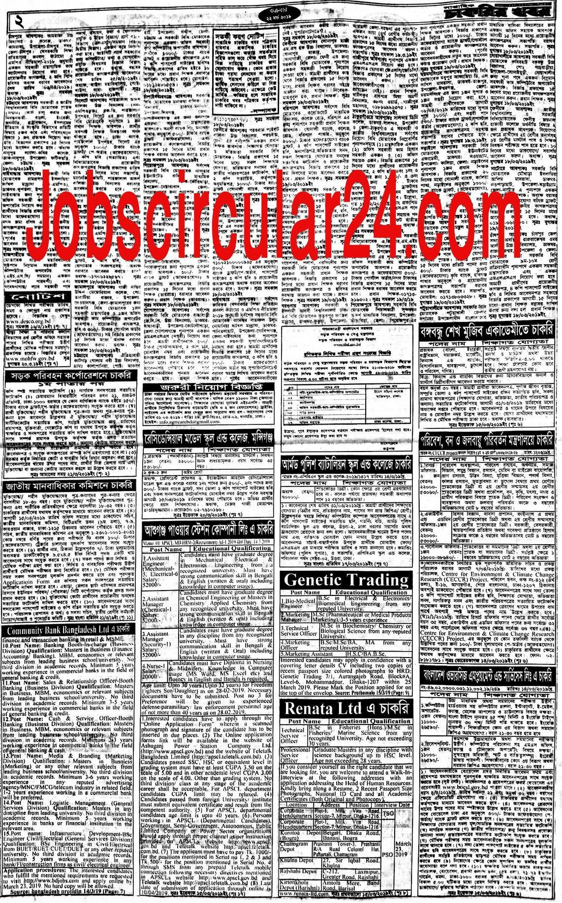 Chakrir Dak Weekly Jobs Newspaper 1