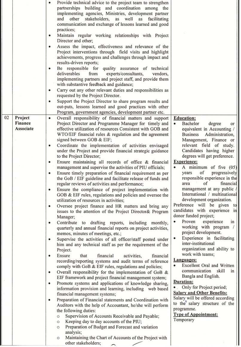 Ministry of Commerce mincom Jobs Circular 2019