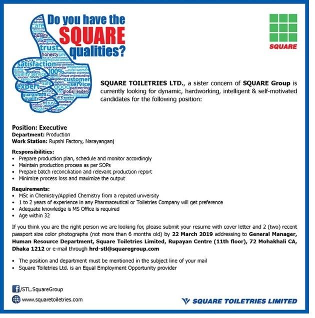 Square Group Job Circular 2019