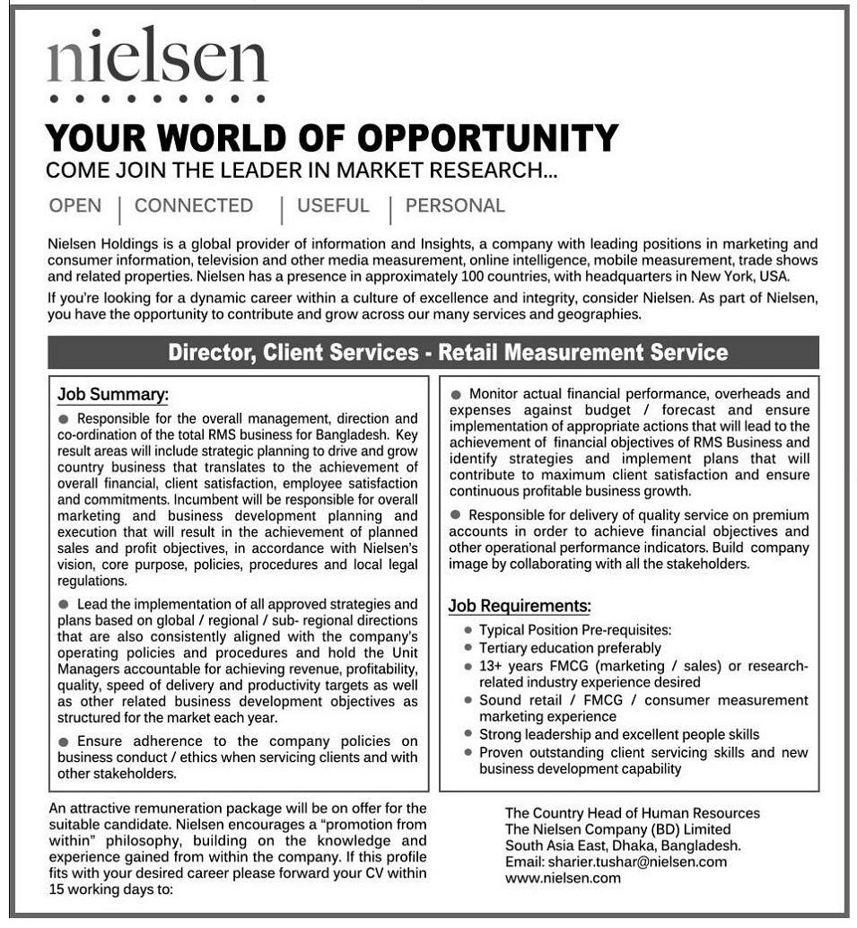 The Nielsen Company (BD) Limited Job Circular 2019