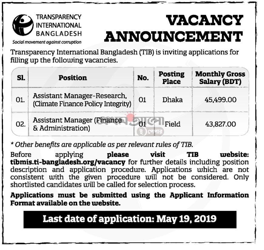 Transparency International Bangladesh Job Circular 2019