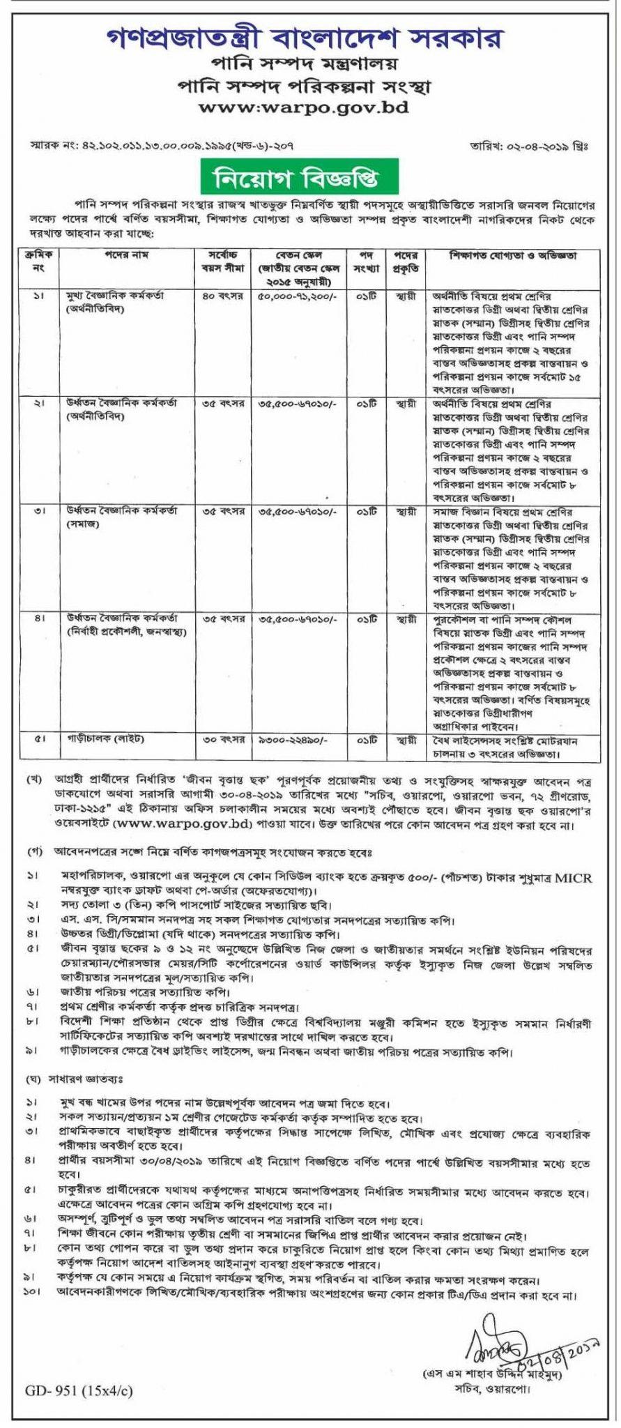 Bangladesh Water Development Board Job Circular-www.bwdb.gov.bd