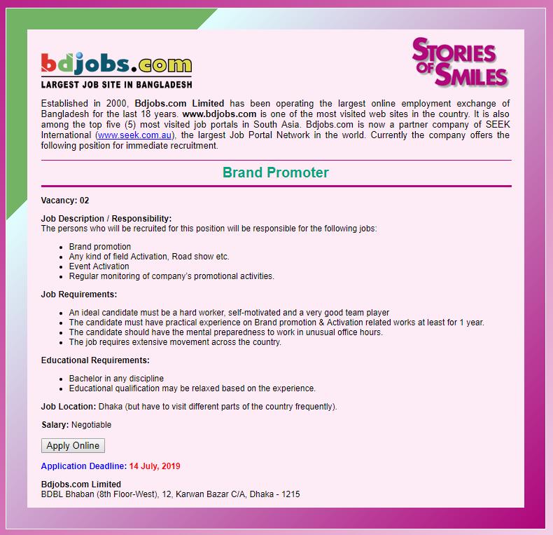 Bdjobs com Job Circular 2019-www bdjobs com - Chakri Info