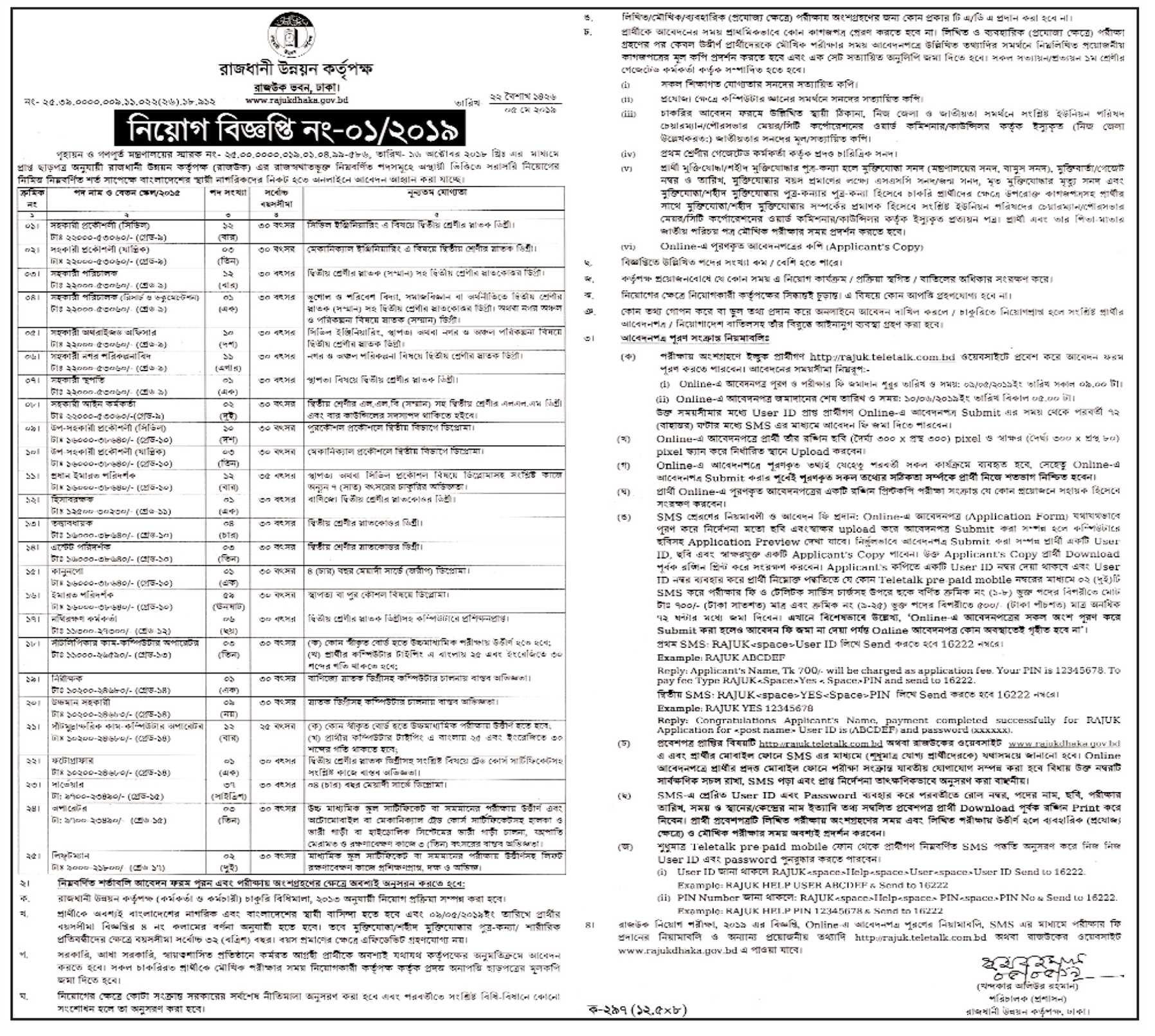 RAJUK Job Circular 2019| BD Jobs Careers