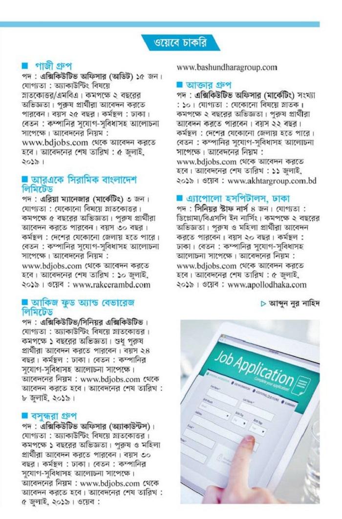 Kalerkantho Weekly Jobs Circular 2019