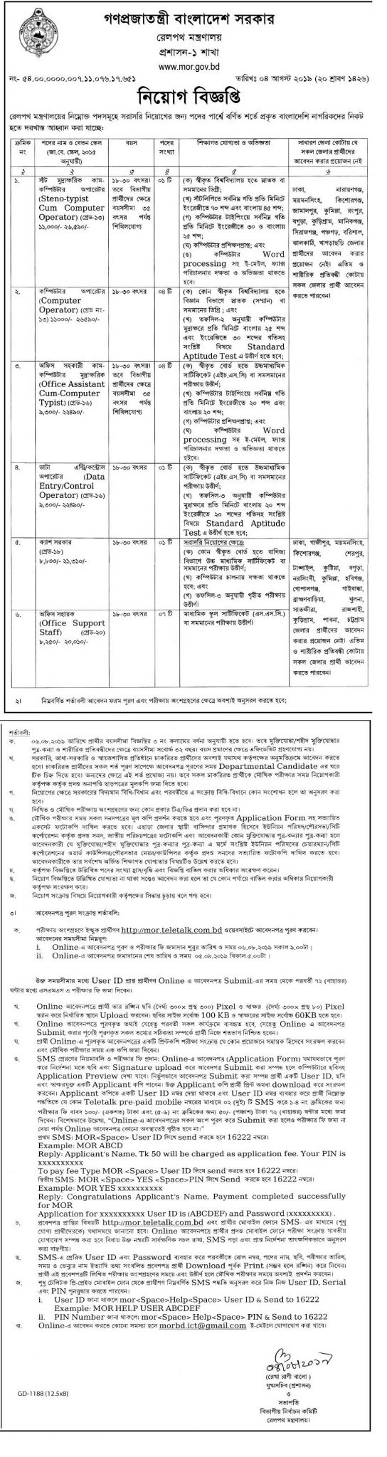 Bangladesh Railway Job Circular 2019| BD Jobs Careers