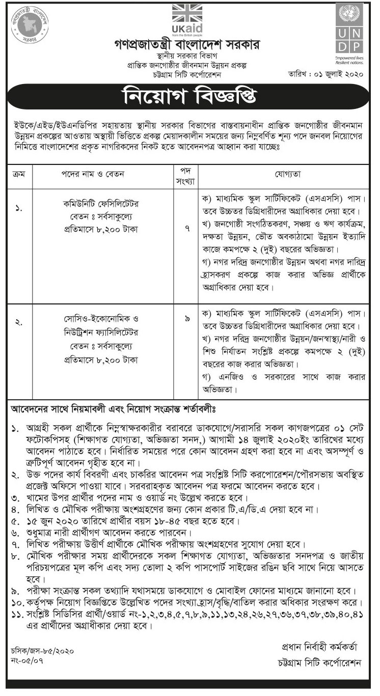 Department of Local Government Division Job Circular 2020