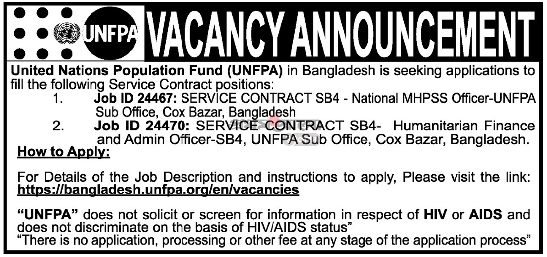 United Nations Population Fund (UNFPA) Job Circular 2019