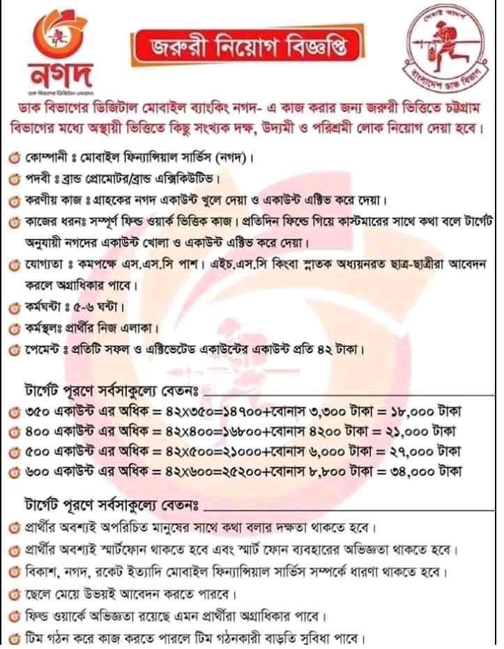 Post Office Job Circular 2020 | BD Jobs Careers