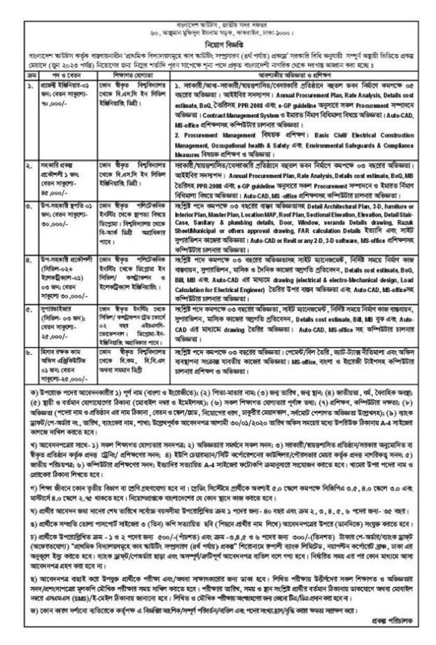 Bangladesh Scouts Job Circular 2020