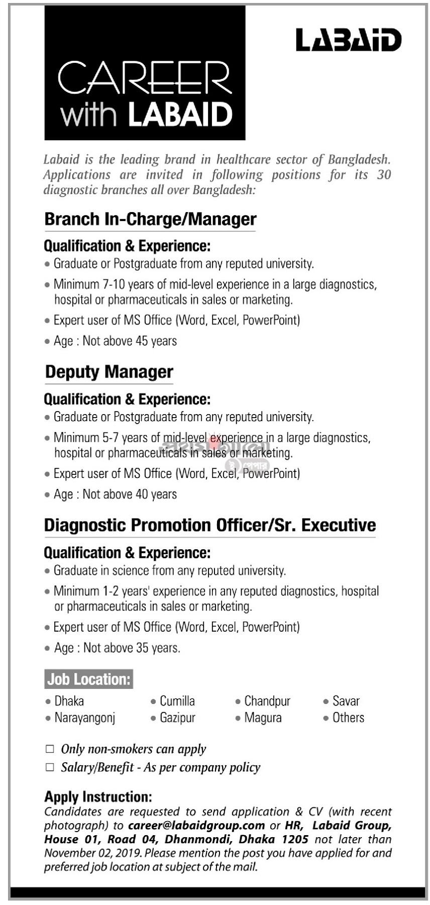 Labaid Properties Ltd Job Circular 2019
