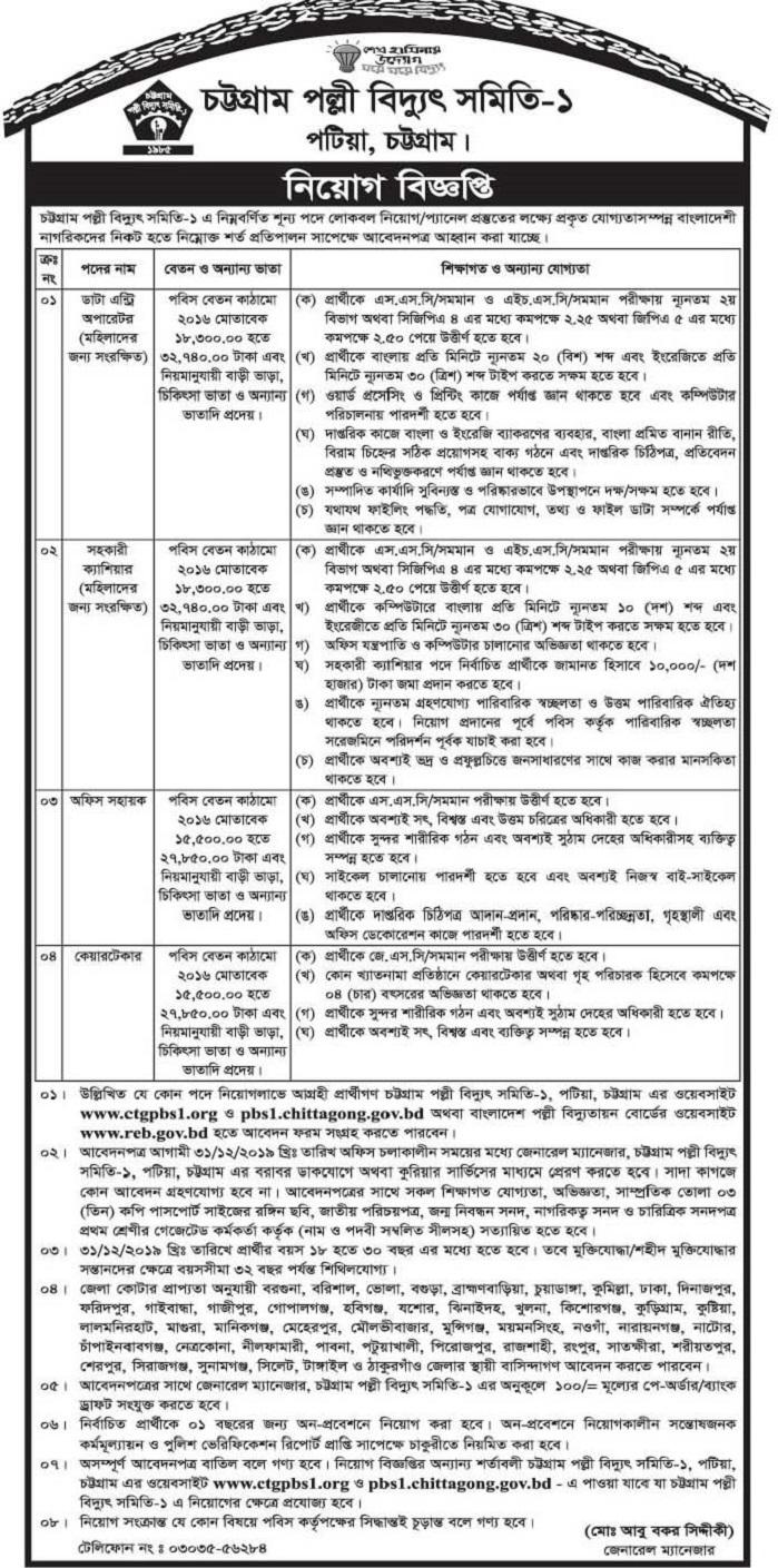 Madaripur Palli Bidyut Samity Job Circular 2020