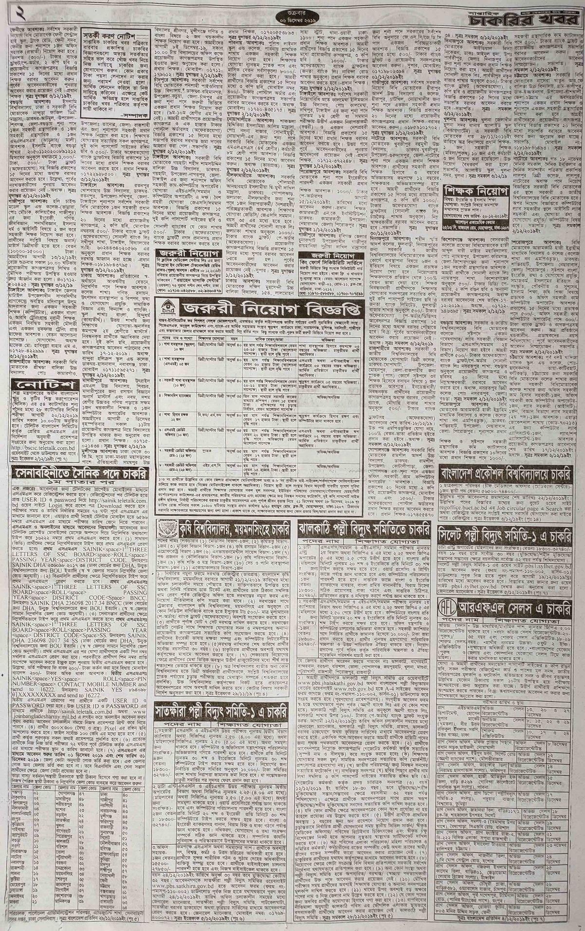 Weekly Saptahik Chakrir Khobor Newspaper 6 December 2019