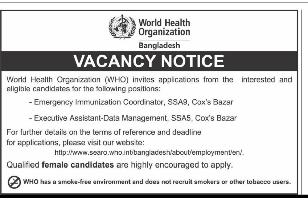 World Health Organization Job Circular 2020